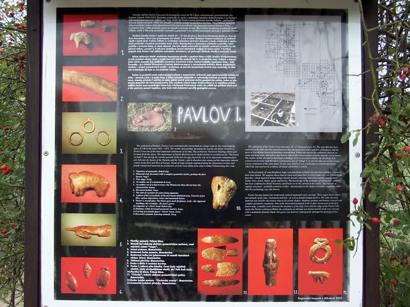 Info tabule arch. nalez. Pavlov